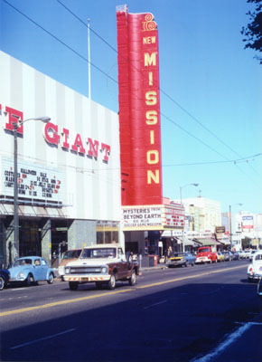 The New Mission Theater, an icon of Mission Street